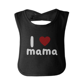 I Love Mama Cute baby Bibs Funny Infant Snap On Bib Great Baby Shower Gift