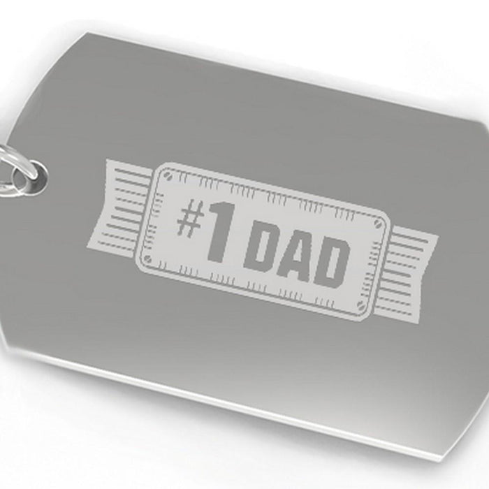 #1 Dad Key Chain Unique Fathers Day Gift Ideas Funny Gifts For Dad - Trivoshop