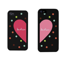 Besties Heart And Dots Pattern BFF Matching Phonecases Cute Phone cover - Trivoshop