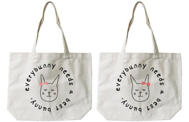 Every Bunny Needs A Best Bunny Matching BFF Tote Canvas Bag - Trivoshop