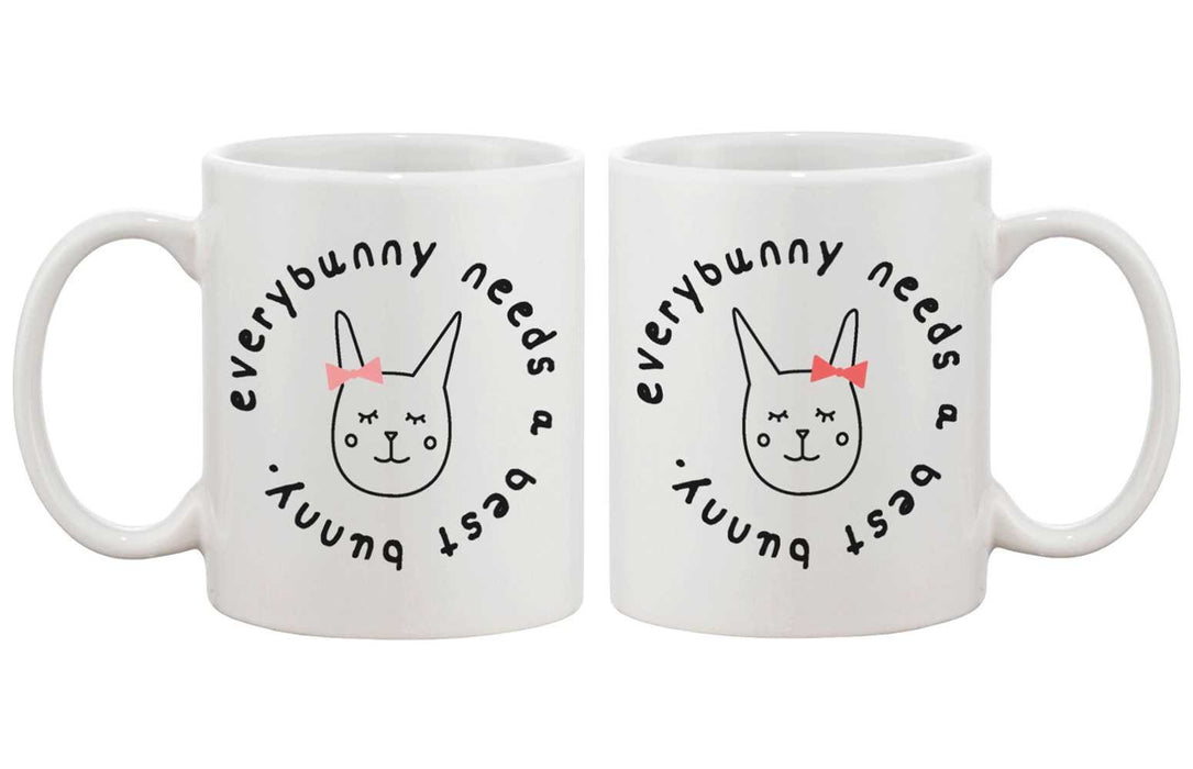 Cute BFF Coffee Mugs for Best Friends - Every Bunny Needs a Best Bunny Cup - Trivoshop