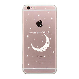 The Moon And Back Couple Clear Phone Case - Right - Trivoshop