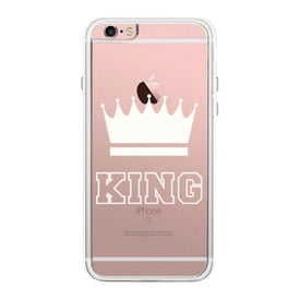 King  Couple Matching Phone Case Cute Clear Phonecase