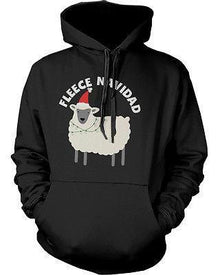 Funny Christmas Graphic Hoodies - Fleece Navidad Unisex Black Hoodie - Trivoshop