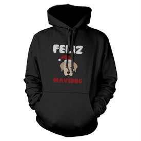 Feliz Navidog Retriever Hoodie Christmas Sweatshirt For Dog Lovers - Trivoshop