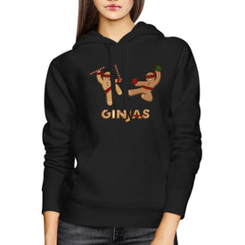 Ginjas Christmas Hoodie Funny Unisex Hooded Pullover Fleece