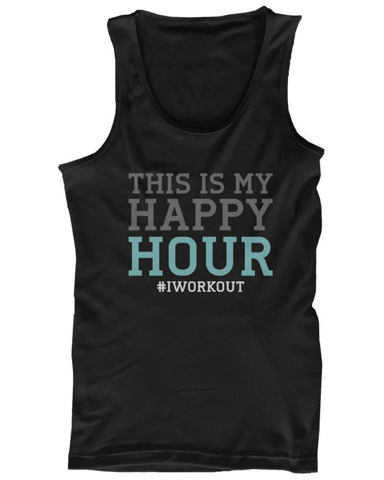Mens Funny Graphic Statement - This Is My Happy Hour #iworkout