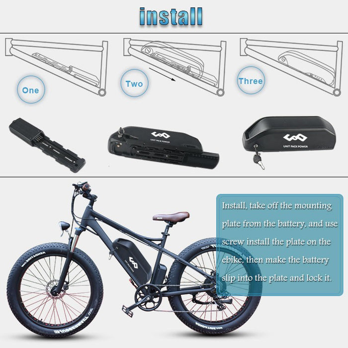 E-bike Battery Pack 13S5P 48V 13Ah for Bafang 750w Conversion Kits, with Standard 2A Charger - Trivoshop