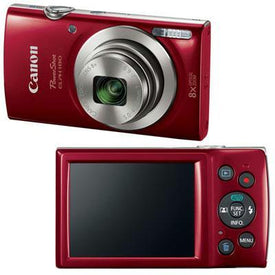 Powershot Elph 180 20mp Red - Trivoshop