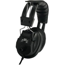 Avid Education AE-808 Switchable Stereo-Mono Headphone with Voume Control, Black