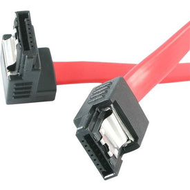 Startech 18in Latching Sata To Right Angle Sata Serial Ata Cable - Sata - M-m - 18 Inch -