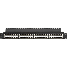 Black Box Network Services Cat6 Feed-through Patch Panel, Shielded,