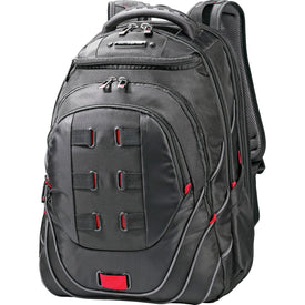"Samsonite Tectonic Carrying Case (Backpack) for 17"" Notebook - Black, Red"