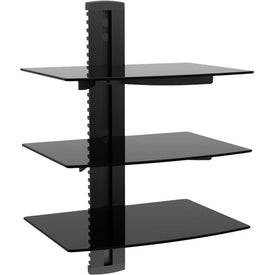 Monoprice, Inc. Three Tier Glass Shelf Wallmount Bracket