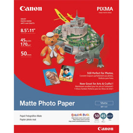 Canon Paper - Matte Photo Paper - Letter A Size (8.5 In X 11 In) - 50 Pcs.