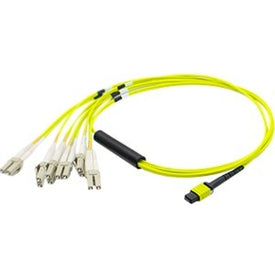 Add-on Computer Peripherals Addon 1.5m Mpo (female) To 8xlc (male) 8-strand Yellow Os2 Multiple Riser Fiber