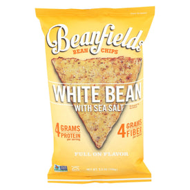 Beanfields White Bean And Rice Chips - Sea Salt - Case Of 6 - 5.5 Oz