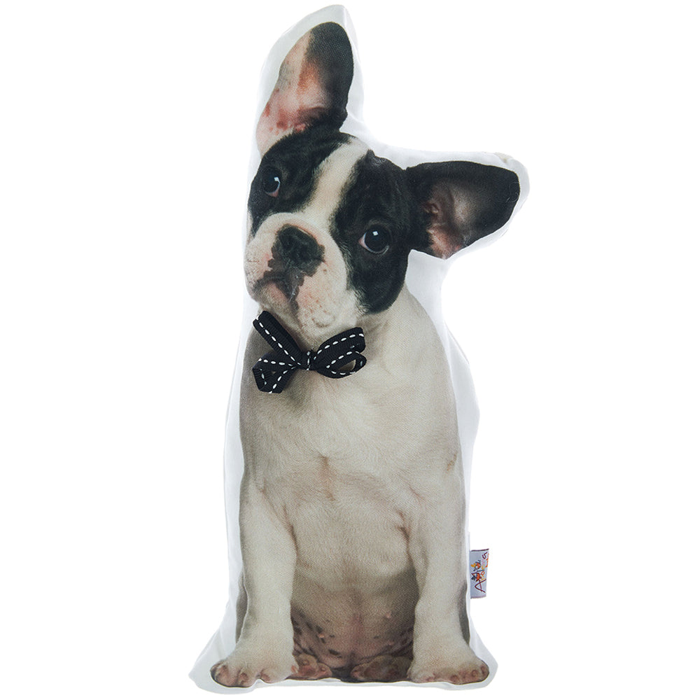 Boston Terrier Dog ShapeFilled Pillow, Animal Shaped Pillow