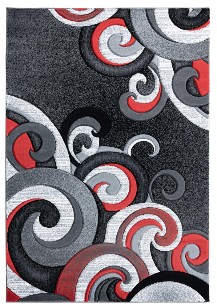 "22"" x 32"" x 0.53"" Red Olefin-Polypropylene Accent Rug"
