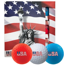 Volvik USA Golf Ball Pack - 3 Sleeves - Red White Blue - Trivoshop