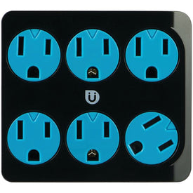 6-Outlet Power Tap (Black & Blue)