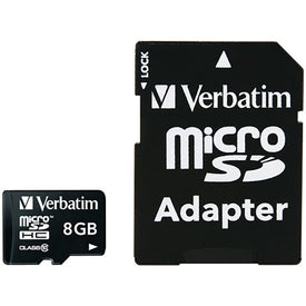 microSDHC(TM) Card with Adapter (8GB; Class 10)