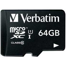 64GB Class 10 microSDXC(TM) Card with Adapter