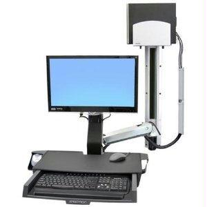 Ergotron Styleview Sit-stand Combo Arm With Worksurface, Medium Cpu Holder