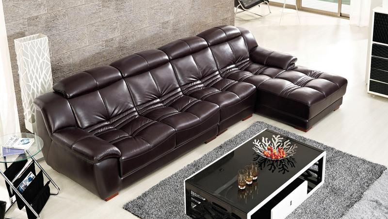 Free Shipping Modern furniture design, Top Grain Genuine Leather sofa, Living Room Smart Sofa Set Free Shippig To Sea Port 2015