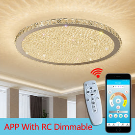 Modern crystal chandeliers Lights Home Lighting ledlamp Living room Bedroom plafonnier Round led chandelier lampadari fixtures - Trivoshop
