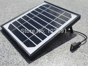 HOT 5W 5V Solar Charger For Mobile Power Banks Monocrystalline Solar Cell Solar Panel USB Solar Mobile Charger New  FreeShipping