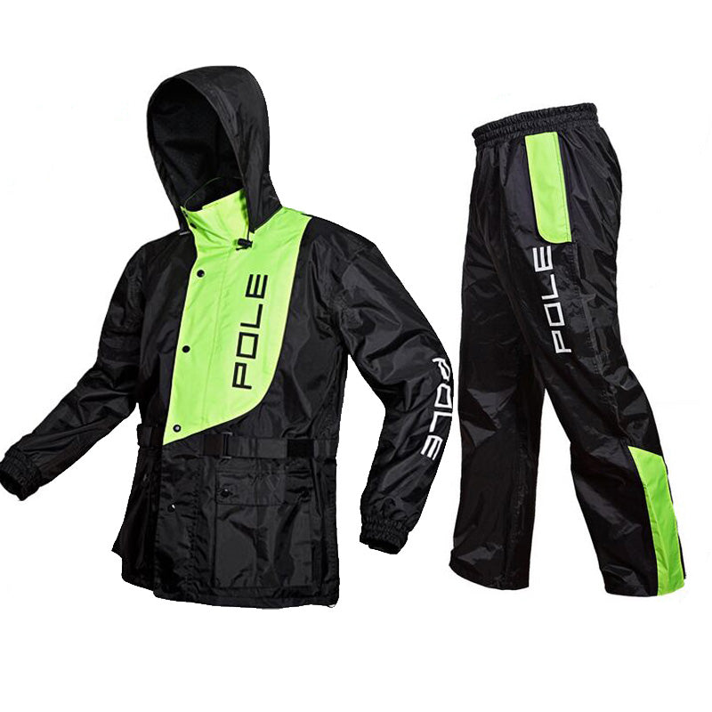 POLE one set Fashion Outdoor Sports Fishing Man Waterproof suits bicycle Raincoat Suit Motorcycle Raincoat - Trivoshop
