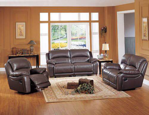 living room sofa Recliner Sofa, cow Genuine Leather Recliner Sofa, Cinema Leather Recliner Sofa 1+2+3 seater for home furniture - Trivoshop