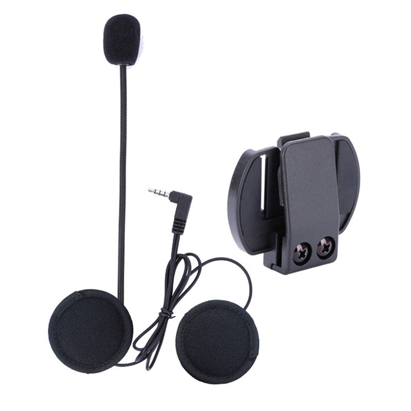V6 Accessories Microphone Speaker & Clip ONLY Suit for V6-1200 Helmet Intercom Motorcycle Bluetooth interphone 3.5mm Jack Plug - Trivoshop