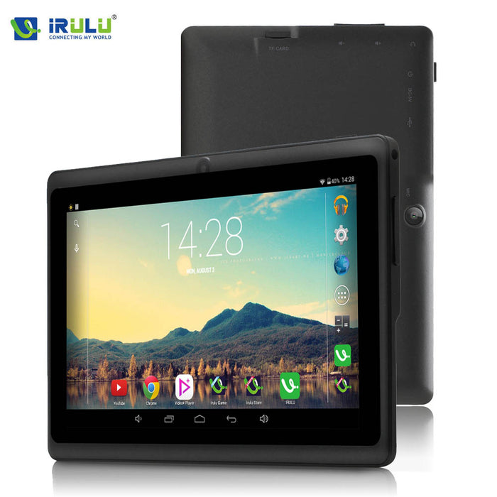 iRULU eXpro X1 7'' Tablet Allwinner Quad Core Android 4.4 Tablet 8G/16G ROM Dual Cameras Multi Color Support WiFi OTG HOT Seller