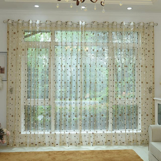 bird nest modern window sheer curtain
