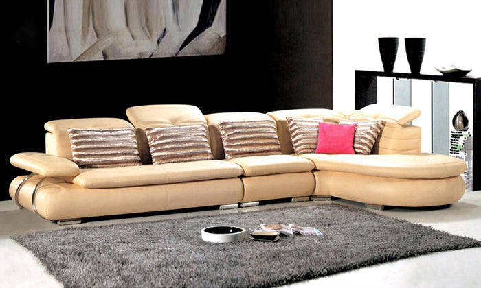 Free Shipping Sofa modern Design 2013 living room furniture Top Grain Leather L Shaped Corner Sectional Sofa Set  L9082