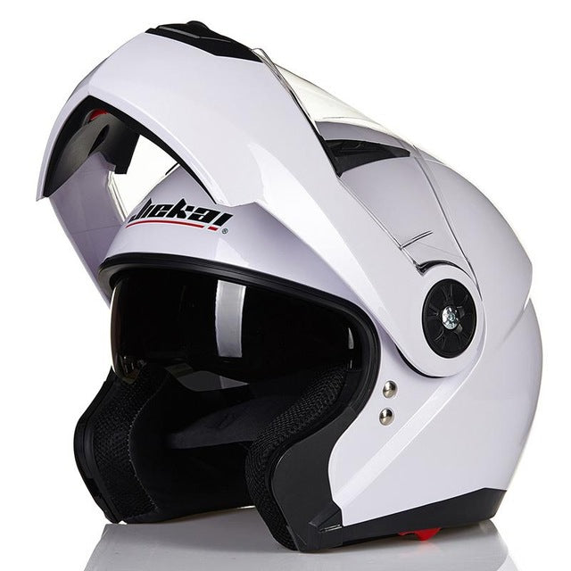 New Design Dot Inner Sun Visor Flip Up Motorcycle Helmet Double Lens Racing Motos Helmet Casco Capacete - Trivoshop
