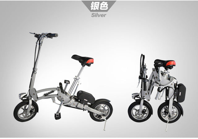 Foldable Electric Bike Mini Cycling 10A E-Bicycle