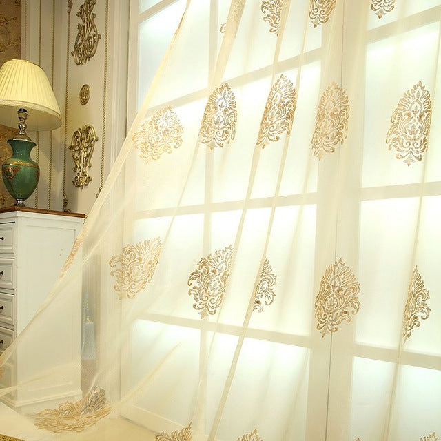European Golden Royal Luxury Curtains - Trivoshop