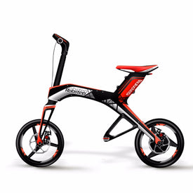 X1 smart folding mini two rounds of lithium battery blue tooth12 inches long range of portable electric bike instead of walking