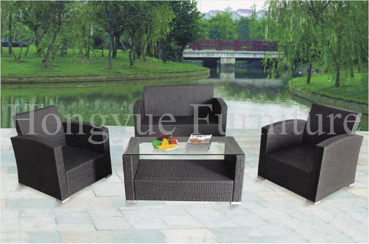 Garden patio rattan disassemble sofa set furniture with cushions