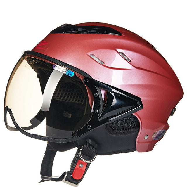 Summer motorcycle helmet Electric bicycle helmet Vintage Scooter half helmet Moto casco Men/women's E-bike capacete - Trivoshop