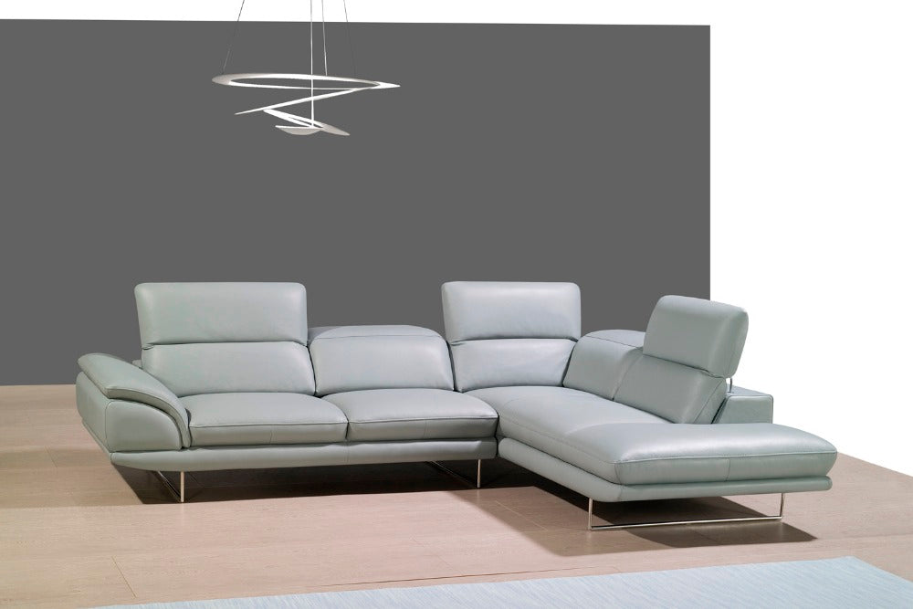 genuine leather sofa sectional living room sofa corner home furniture couches with functional headrest modern style - Trivoshop