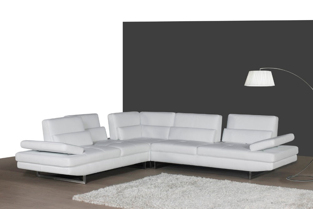 real leather sofa sectional living room sofa corner home furniture couch L shape functional headrest modern with 6 backrests - Trivoshop