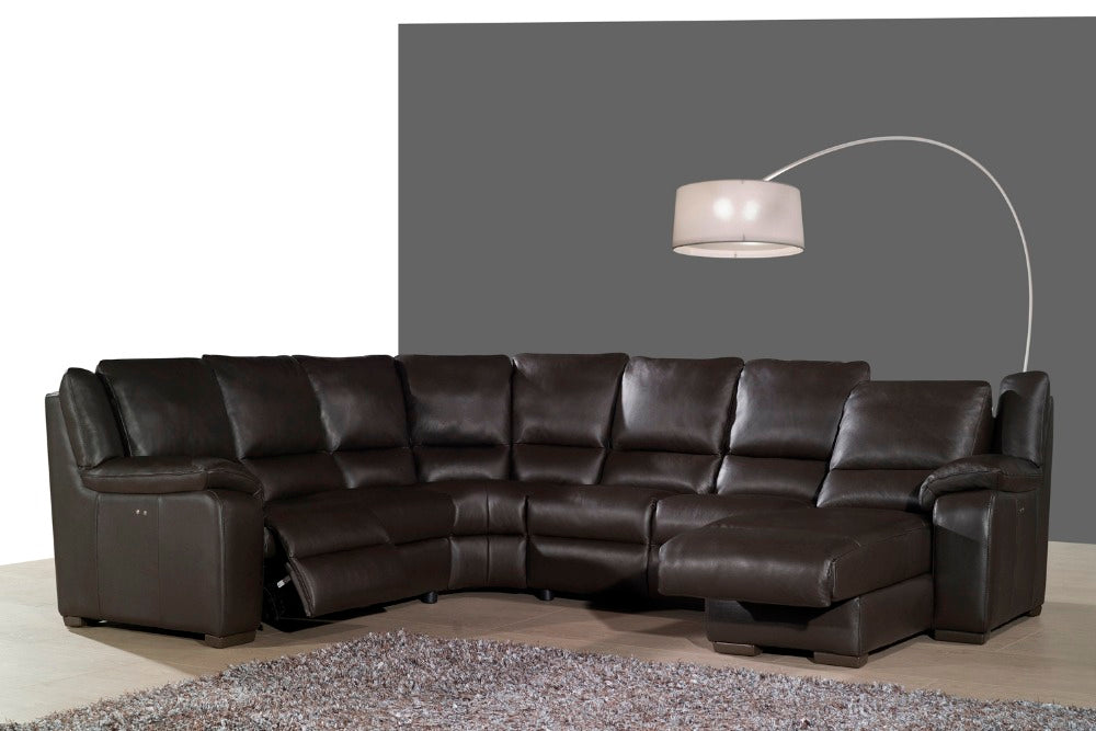 real leather sofa set living room sofa sectional/corner sofa set home furniture couches functional headrest U shape recliner - Trivoshop
