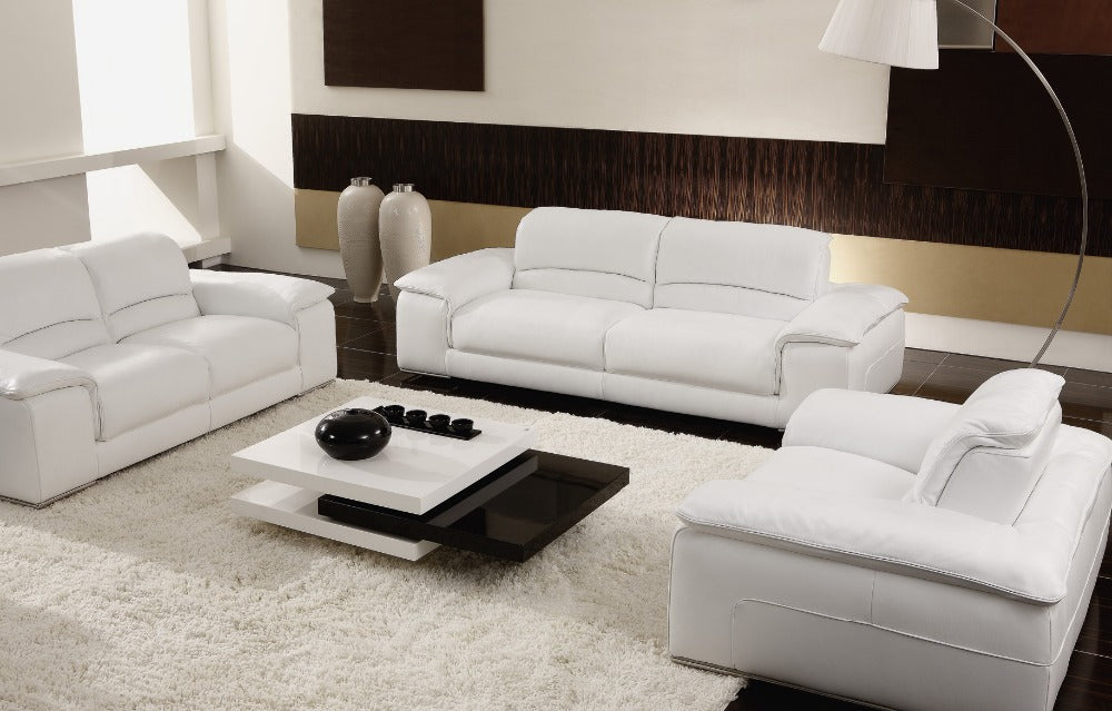 white/beige Sectional Leather Sofas Living Room 8230 leather sofa modern sofa Living Room Leather Sofas - Trivoshop