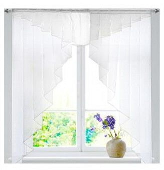 11 colors Fashion Pleated Roman Curtain Design Stitching Colors Tulle Balcony Kitchen Window Curtain Blind 1pc - Trivoshop.com