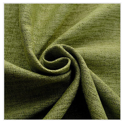 byetee Modern Cotton Linen Green Window Curtains