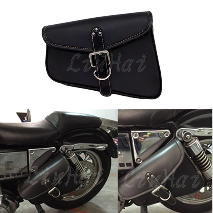 Motorcycle PU Leather Left side Saddlebag Saddle Bag - Trivoshop